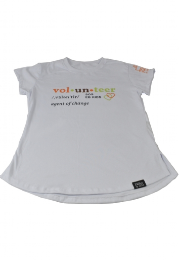 Camiseta Feminina Sos Eb Kids Volunteer